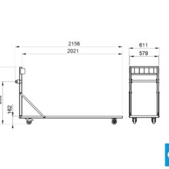 ProFlex™ Upright Storage Trolley specs
