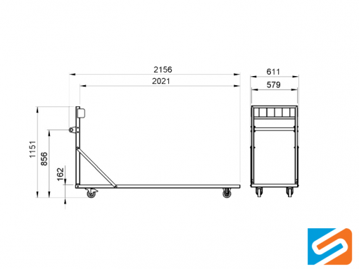 ProFlex™ Upright Storage Trolley specs